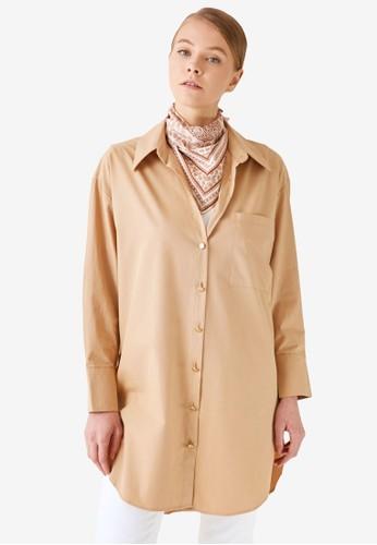 Trendyol brown Shirt Button Tunic 634DAAAE08B4CCGS_1