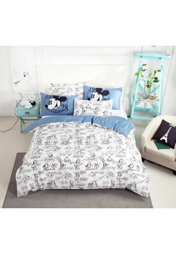 Eurotex Disney Mickey Mouse, Cotton Sateen, Fitted Bedsheet Set, 1928 Legend B. 0524BHL376B7ACGS_1