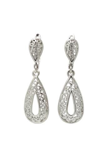 Jaysa Collection silver Silver Filigree Frame Earrings JA875AC0F9MOSG_1