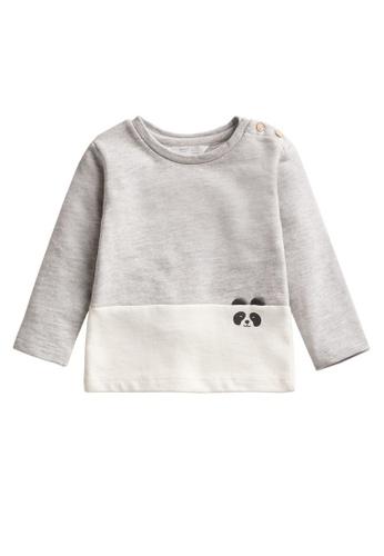 MANGO BABY grey Embossed Organic Cotton Sweater 574FAKA91126ABGS_1