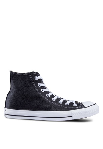 Converse black Chuck Taylor All Star Leather Hi Unisex Sneakers CO302SH34JSBSG_1
