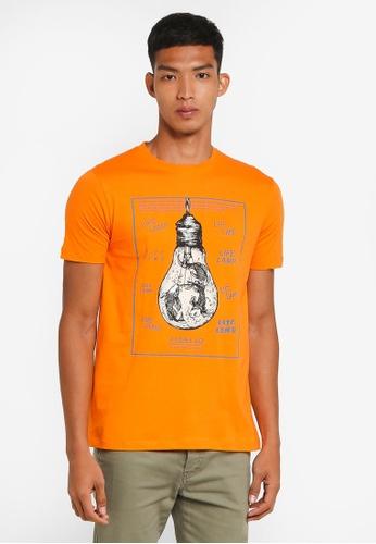 Fidelio 橘色 短袖印花T恤 61139AA89E7CB4GS_1