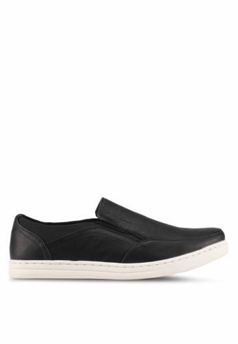 Rocklander black Casual Slip Ons RO978SH0S87FMY_1