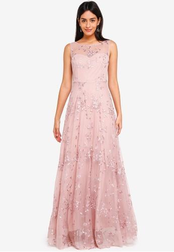d09d9646 Buy Goddiva Sleeveless Lace Overlay Maxi Dress Online | ZALORA Malaysia