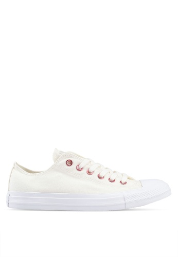 Converse white Chuck Taylor All Star Hearts Ox Sneakers 5C3B5SHE17E67BGS_1