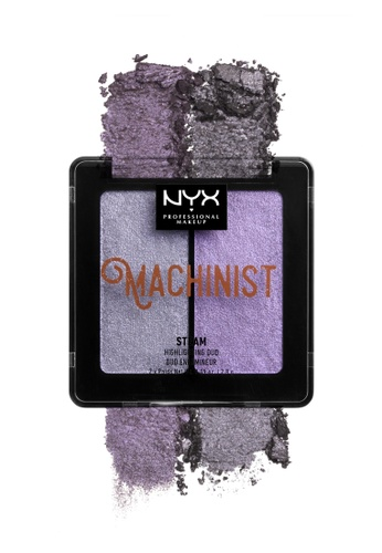 NYX Professional Makeup purple NYX Professional Makeup Machinist Highlighting Duo - 02 Steam B5A16BED2AD423GS_1