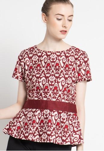 bhatara batik red Jillian Top BH237AA83ZQYID_1