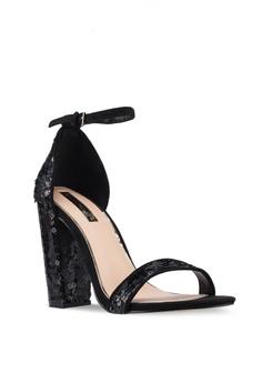 e7e1e227290 60% OFF Miss Selfridge Honor Sequn Block Heels RM 219.00 NOW RM 87.90 Sizes  3 4 5