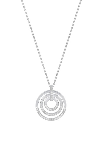 Swarovski silver Circle Pendant Necklace 11BB7AC4AD76FFGS_1