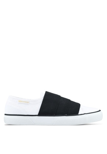 Superga black and white Cotu Slip Ons 27081SH6CAA106GS_1