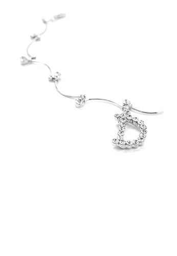 Glamorousky silver Elegant Moon Anklet with Silver Swarvokski Crystals 17C98ACACD772EGS_1