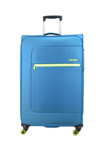 Airways blue Airways expandable 4 wheels 20 Inch Soft Case Luggage - Turqouise - ATS 6925 79B8FACFDD85FBGS_1