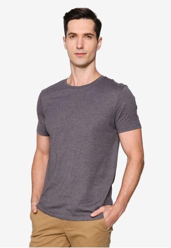 Burton Menswear London grey Charcoal Marl Organic Cotton Short Sleeve Crew Tee CB0DBAAAC06CE8GS_1