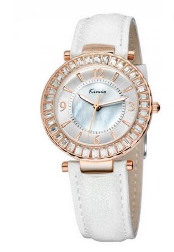 Eyki white and red and gold Eyki Kimio K501M Japan Quartz Leather Watch (Rosegold White) EY078AC51RLKMY_1