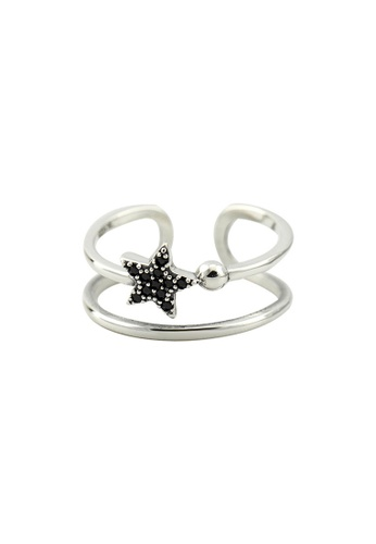 A-Excellence silver Premium S925 Sliver Geometric Ring F12B8AC56C6157GS_1