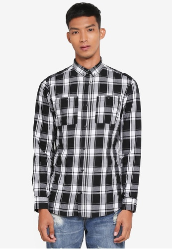 Jack & Jones black Jason Worker Shirt 7683BAA60FC9D4GS_1
