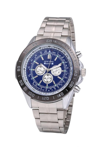 Greatvalueplus red Newyork Army NYA161 Men's Stainless Stee Oversize Watch - Dial 55922AC4CA9346GS_1