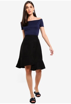a6af5c0a ZALORA Ruffled Skirt S$ 34.90. Sizes XS S M L XL