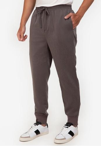 ZALORA BASICS grey Side Zip Jogging Pants 5A6BCAA09C4926GS_1