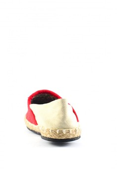 Habi Footwear Women's Classic Espadrilles - Red/Beige