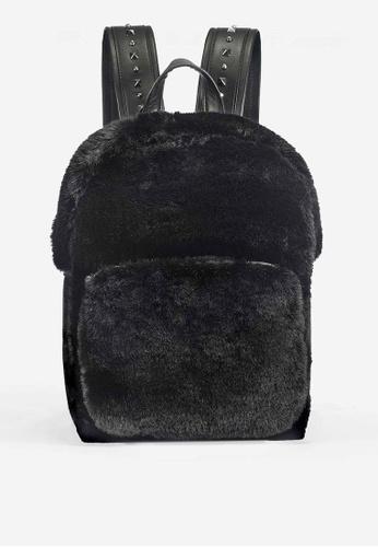 Ash black ASH Rehab Fur Backpack 4E49DACAE2D837GS_1