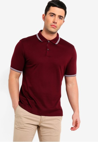 Banana Republic red Lux Tipped Polo Shirt 3A418AA0325BB9GS_1