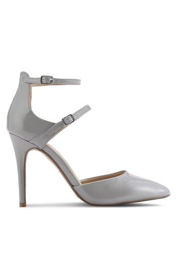 Dorothy Perkins grey Grey Gizmo Multi Buckle Court Heels DO816SH35UYYMY_1
