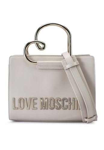 Love Moschino beige Love Logo Top-Handle Bag 9AF6CAC2BA9E2AGS_1