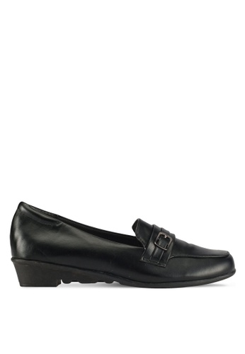 Alfio Raldo black Pleather Loafers 290DESH355363BGS_1