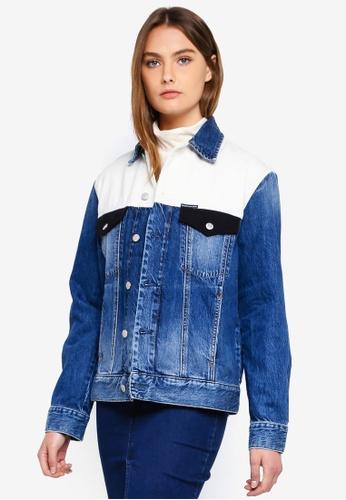 Calvin Klein blue Classic Trucker Block Jacket 1195AAA5814EDFGS_1