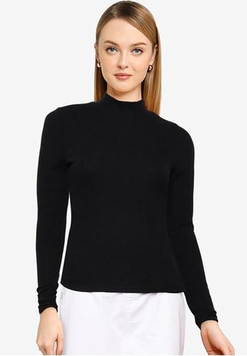 Cotton On black Rosa Long Sleeve Top 7F6EAAA4EF4EA2GS_1