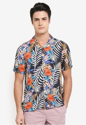 Topman multi Short Sleeve Floral Shirt 3E431AAD339BACGS_1