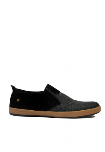 D-Island black and grey D-Island Shoes Slip On Oxford Comfort Canvas Dark Black DI594SH62MNXID_1