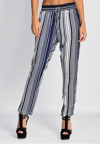SJO & SIMPAPLY SJO's Geneu Navy Stripe Women's Pants