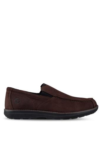 Timberland brown Edgemont Moc Toe Slip-Ons 292B0SHD5E5193GS_1