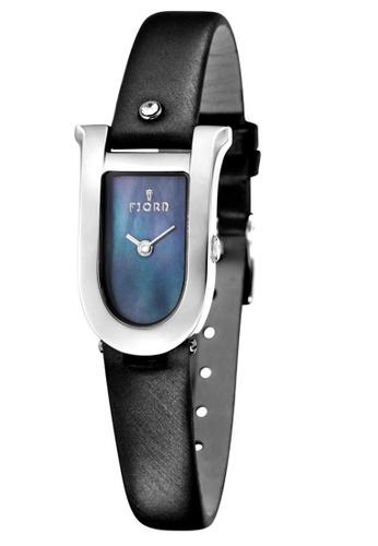 Fjord black Fjord Women's Genuine Leather Watch - FJ-6022-01 D178CACE100295GS_1