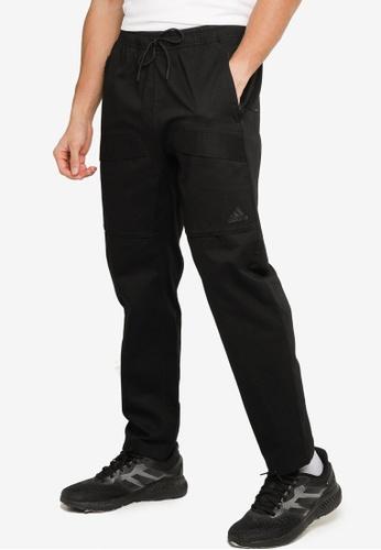 ADIDAS black sportswear street woven cargo pants 1A2CFAAAB7B77CGS_1