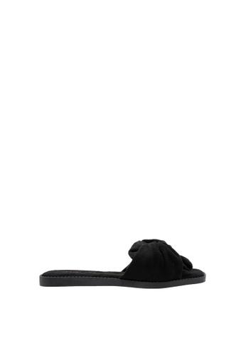 SEMBONIA black Women Suede Flat Sandal 6A9BDSHF262DBAGS_1