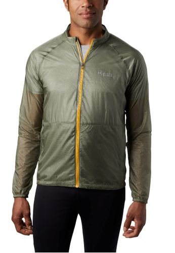 Columbia green Men's FKT Windbreaker Jacket 2D08CAA111BFFBGS_1