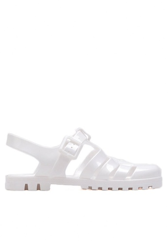 Twenty Eight Shoes white Lovely PVC White Flat Sandal TW446SH03FSMHK_1