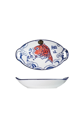 Table Matters multi Red Tai - 11 inch Oval  Baking Dish With Handles FAF84HLFC070DCGS_1