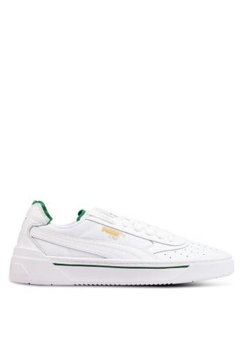 6d93513df1 Puma white and green Sportstyle Prime Cali-0 Shoes 37477SH7BDA773GS 1