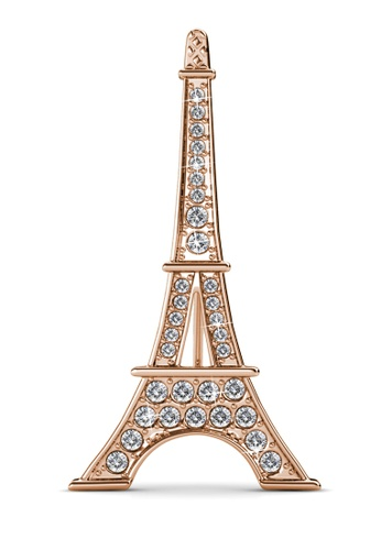 Her Jewellery silver La Ville Brooch (Rose Gold)-  Embellished with Crystals from Swarovski® 6CE92ACF9DF11FGS_1