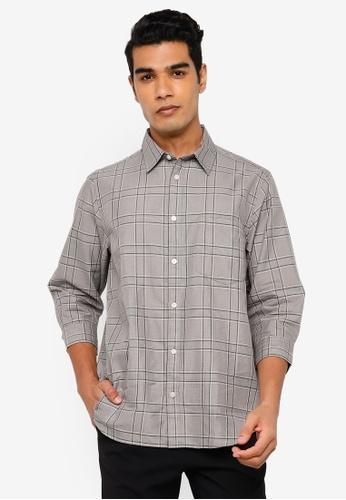 RAGEBLUE grey Half Sleeve Shirt E0245AA7A316A0GS_1