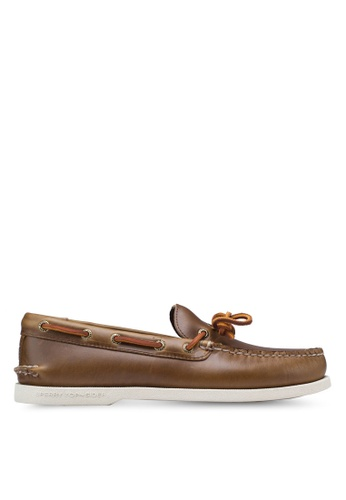 Sperry brown Authentic Original 1-Eye Cyclone Boat Shoes SP921SH85QPQSG_1