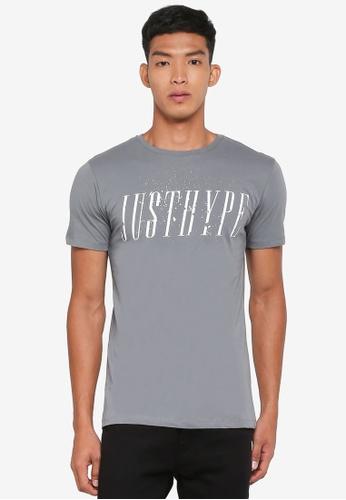 Just Hype grey Garden T-Shirt 08085AAA49239CGS_1