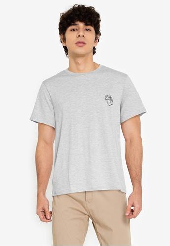 ZALORA BASICS grey Roman T-Shirt 73892AA328D9C2GS_1
