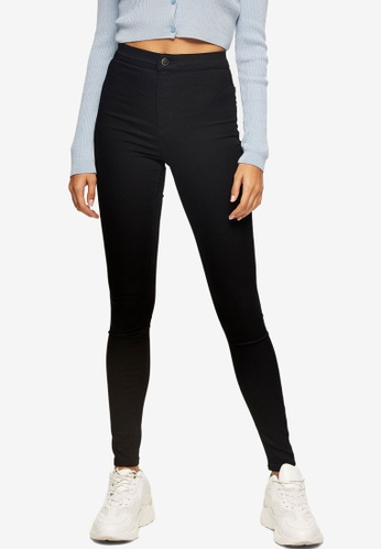 TOPSHOP black Pure Black Joni Skinny Jeans 58965AAEA42FFBGS_1