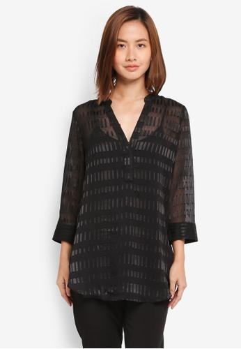 Wallis black Black Burnout Detail Shirt 0C4C0AAD4F5110GS_1