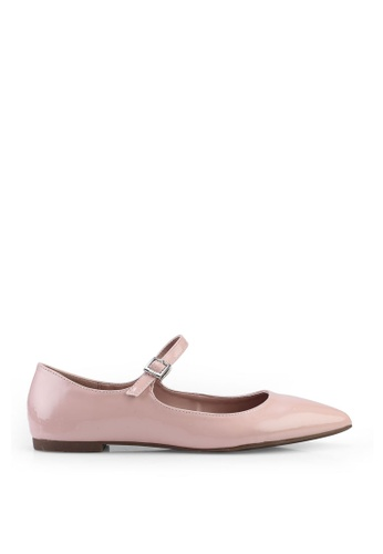 nose 粉紅色 Ankle Strap Flat Pumps D6B93SH67AAD1DGS_1